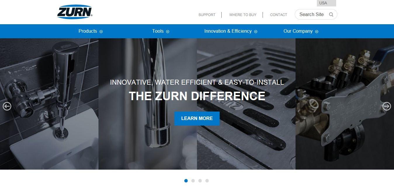 New Zurn Website: visit Zurn.com