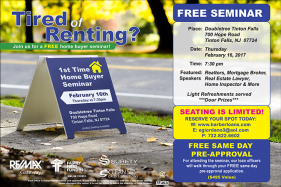 Free First Time Home Buyer Seminar Tinton Falls, New Jersey