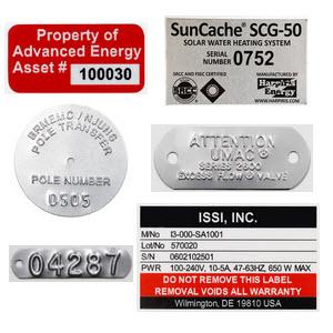 Custom Metal Asset Identification Tags