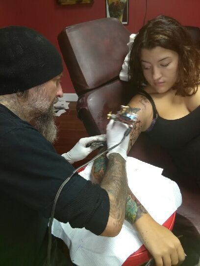 Rick Finney Tattooing at Elite Ink Studios.