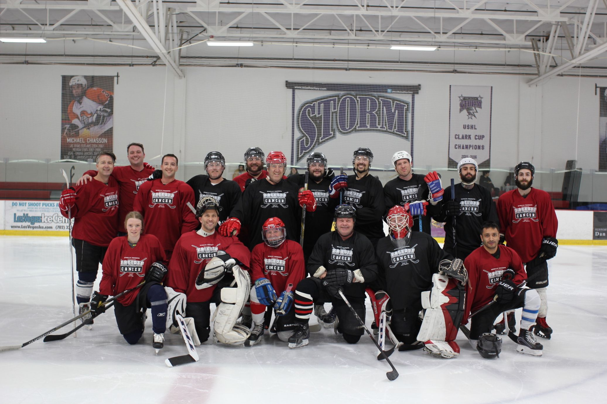 UpSellit's first annual charity hockey game gives over $10K to cancer community.