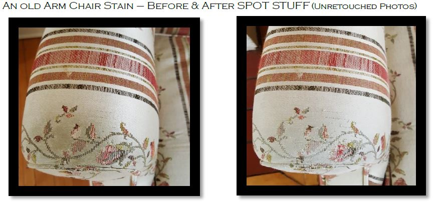 Old stain on furniture removed in minutes with Spo