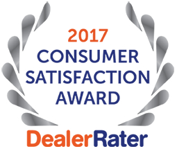 2017 Consumer Satisfaction Award by DealerRater.com
