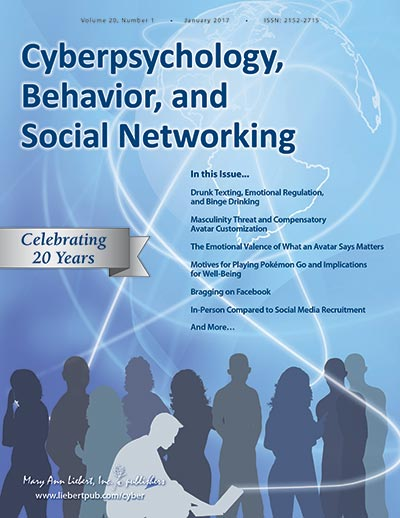 cyberpsychology behavior and social networking pdf