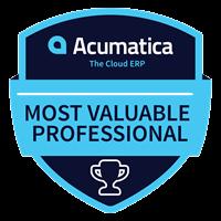 Acumatica Most Valuable Professional