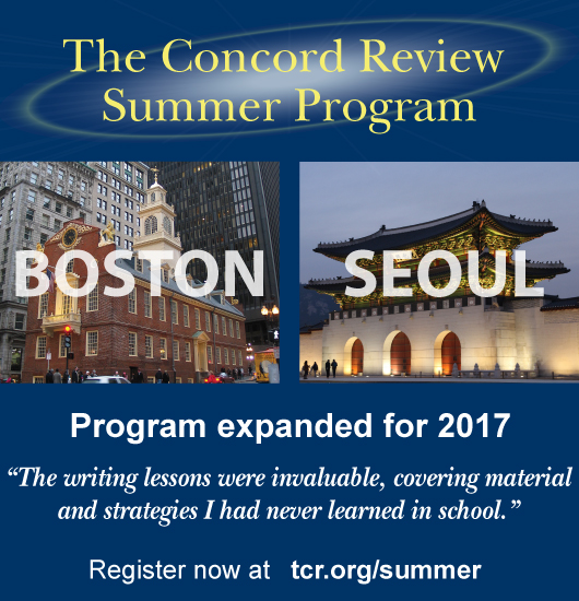 The Concord Review Summer Program is offered in Boston and Seoul.