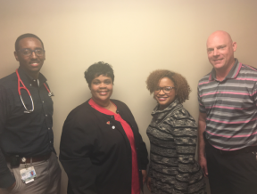 DCI New Orleans East leadership team welcomes new patients.