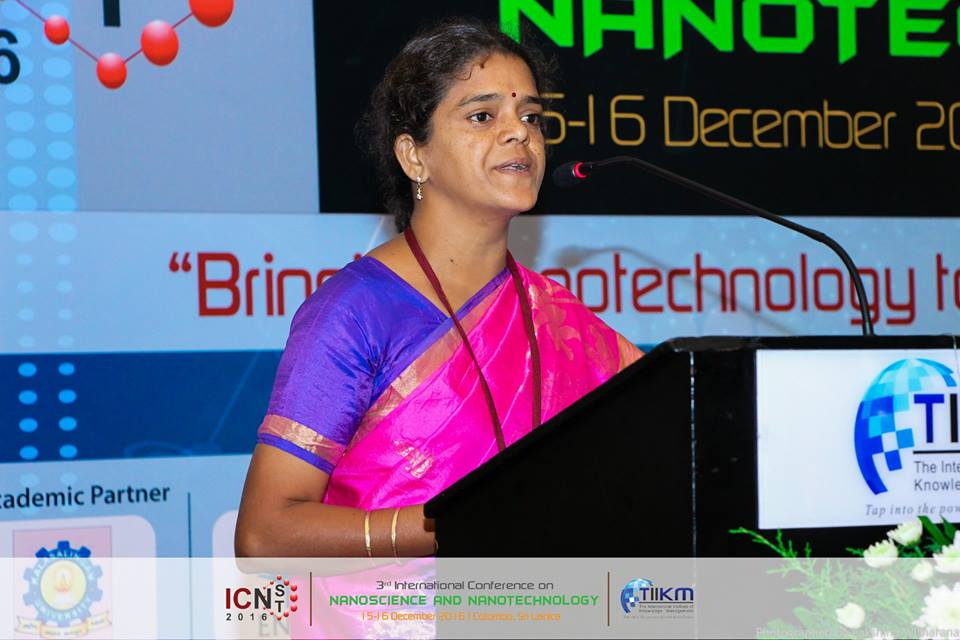 Dr.Theivasanthi while Delivering Lecture in ICNSNT 2016, Sri Lanka