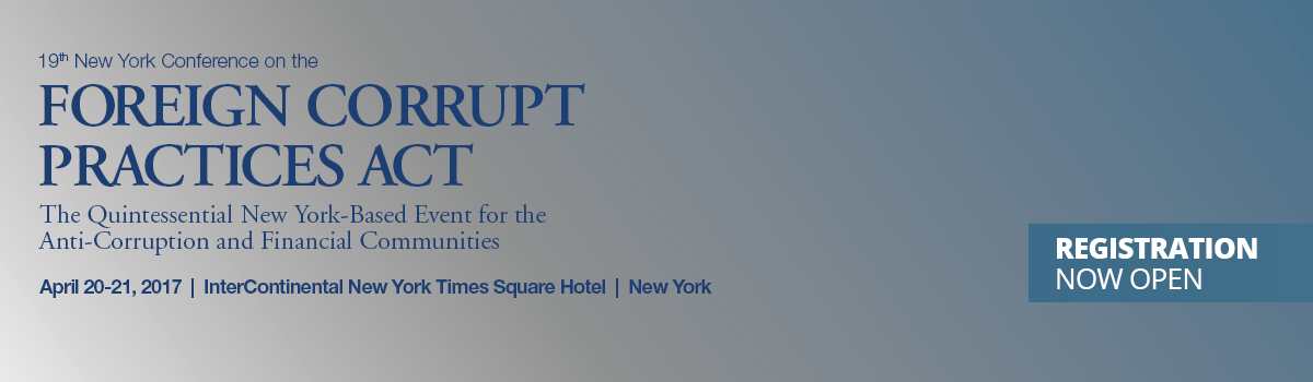 19th Annual New York Conference on the Foreign Corrupt Practices Act