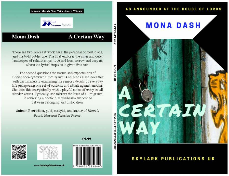 A CERTAIN WAY by Mona Dash available from Amazon