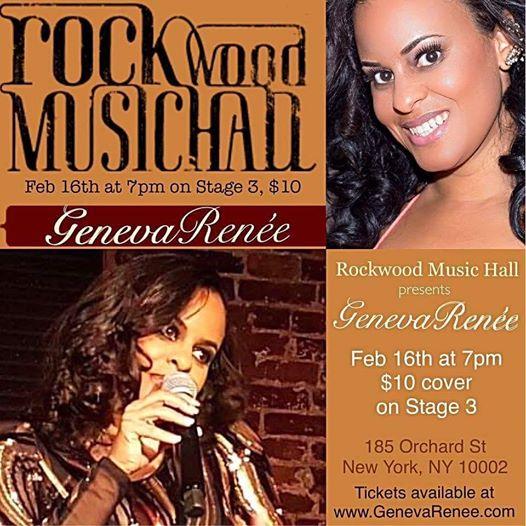 Geneva Renée at Rockwood Music Hall Thursday, February 16, 2017