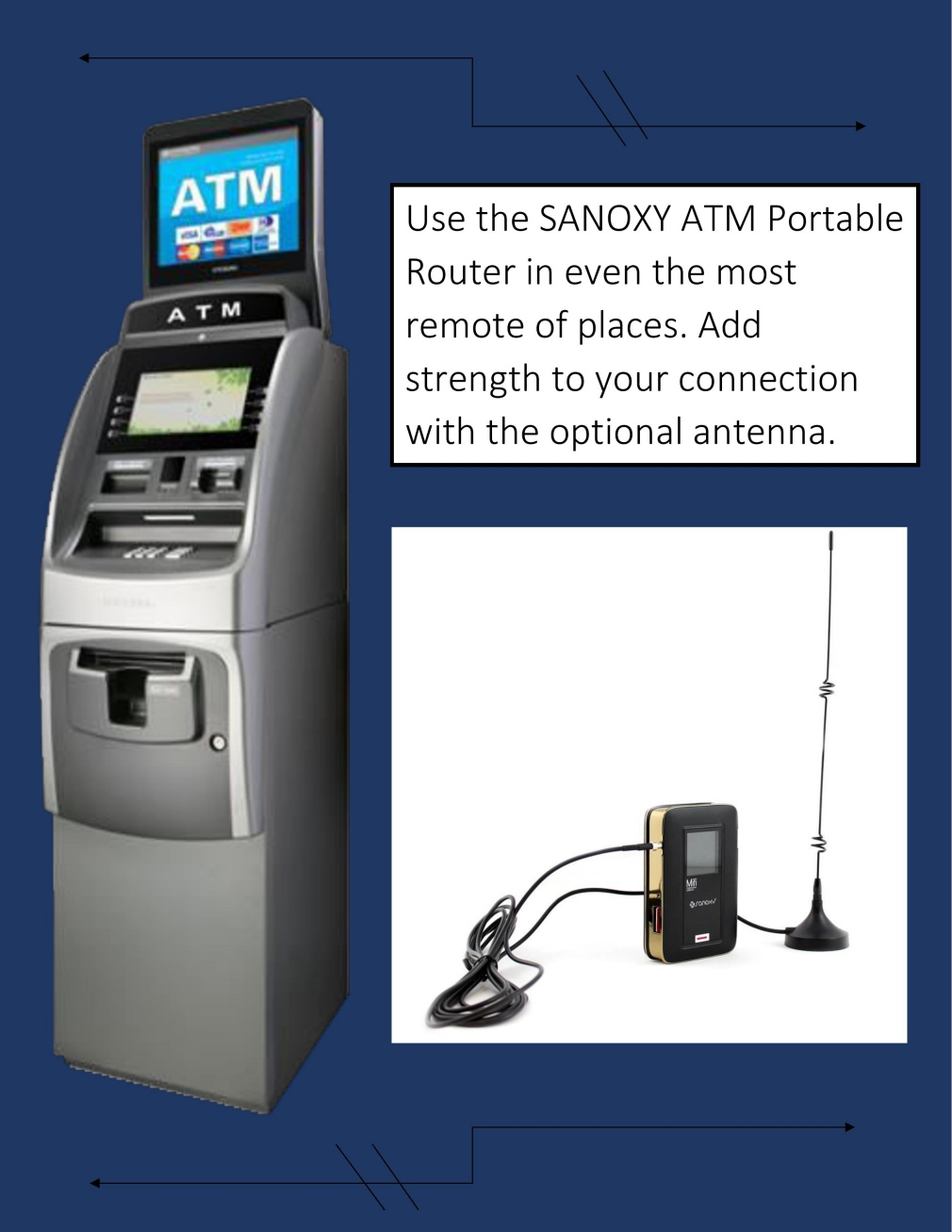 ATM POS KIOSK Wireless Ethernet Router
