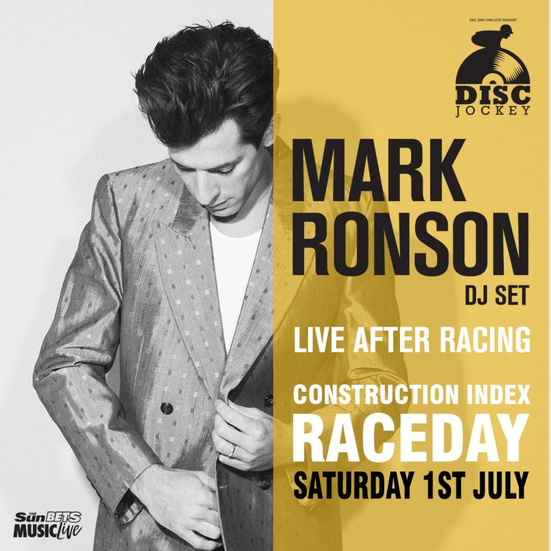 Mark Ronson to play at Doncaster Racecourse