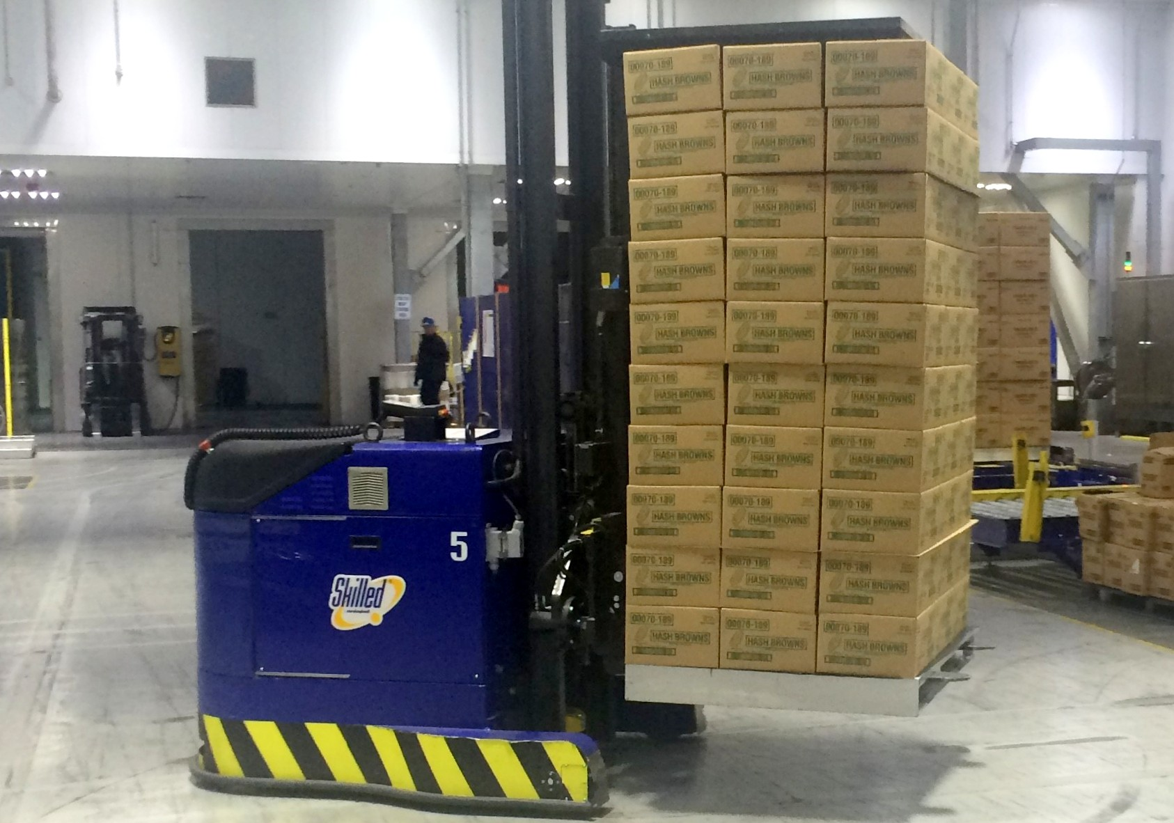 Aluminum Industries pallets in use at Simplot's Caldwell, Idaho facility.