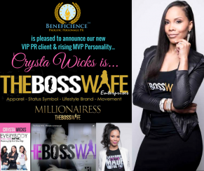 Crysta Wicks is THE BOSS WIFE Millionairess Boss Wife Entrepreneur Mom & Author