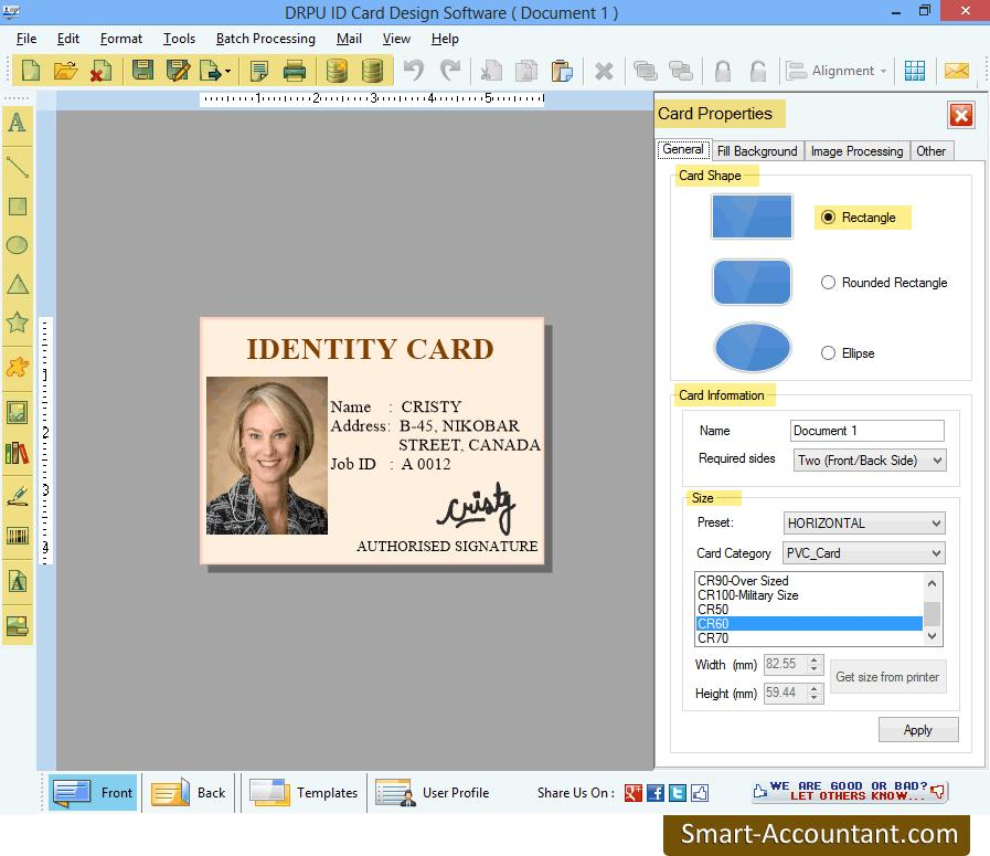 make an identification card