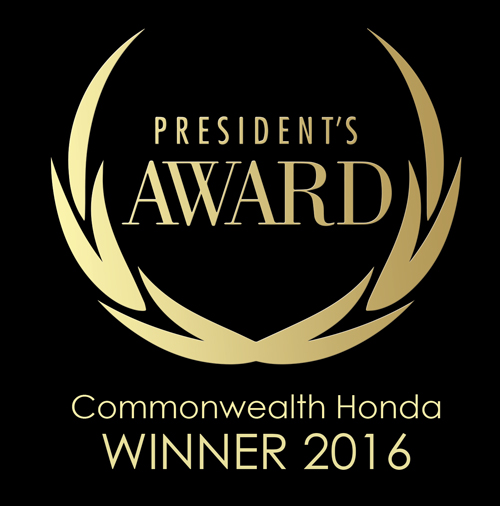 Commonwealth Honda 2016 President's Award Winner ...