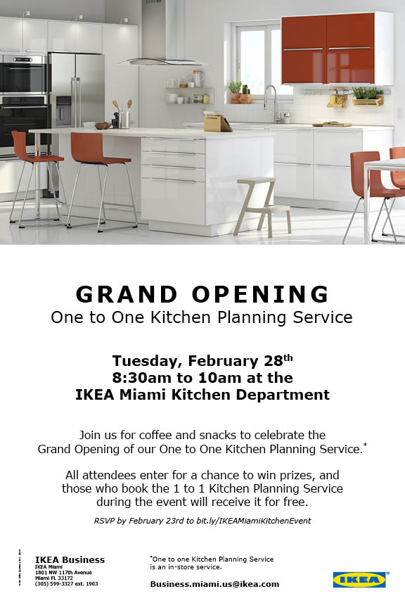 Grand Opening One To One Kitchen Planning Service Doral
