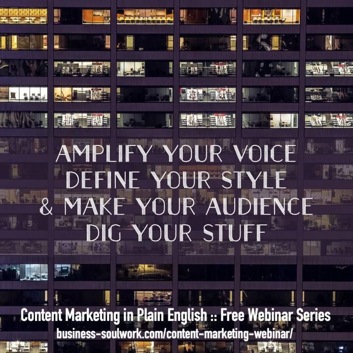 Content Marketing in Plain English Free Webinar Series
