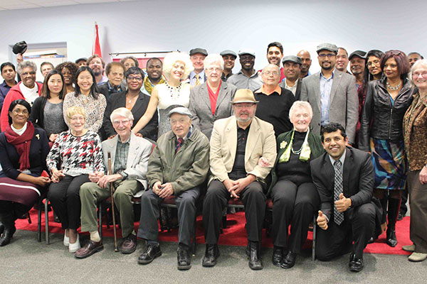 25 year Toastmaster Ron Kosciolek, front row, third from the right.