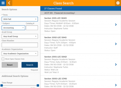 HighPoint Mobile for Peoplesoft Campus Solutions