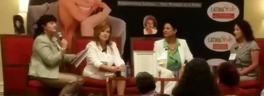 Women entrepreneurs sharing wisdom on business panel