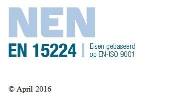 Certificaten NEN-EN 15224 in Nederland