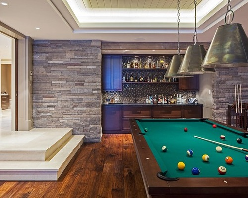 Sports Bar Out of a Family Room
