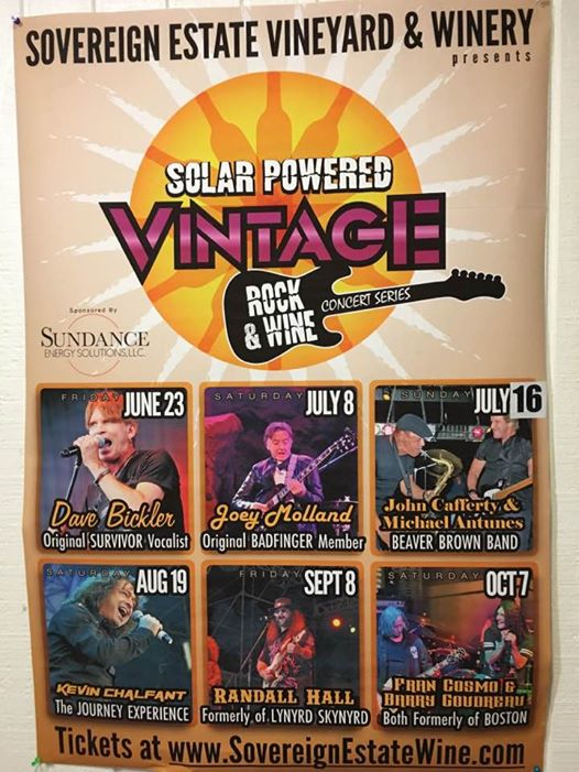 Sovereign Estate Winery Vintage Rock and Wine Concerts Series