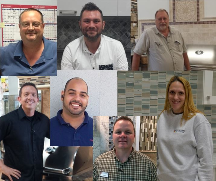 Tile Outlets Of America Realigns Management Roles In Tampa Sarasota And Fort Myers Top Left Martin Morrison Stangs Robinson Williams Soria Granger