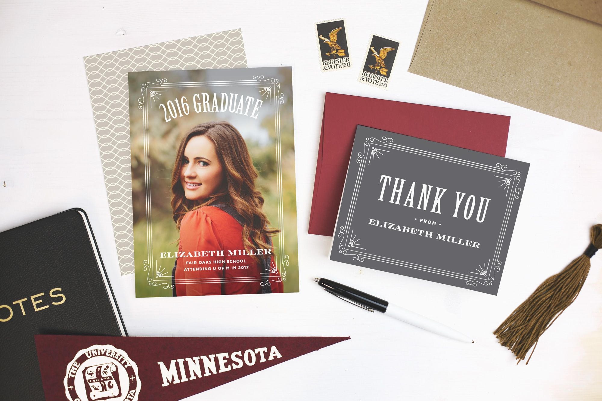 get your high school or college graduation into full swing with 40 new designs from basic invite