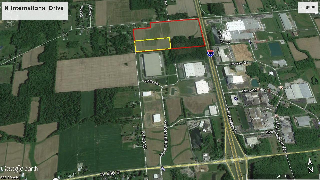 Site of Lindal Group's new facility in Columbus, Indiana