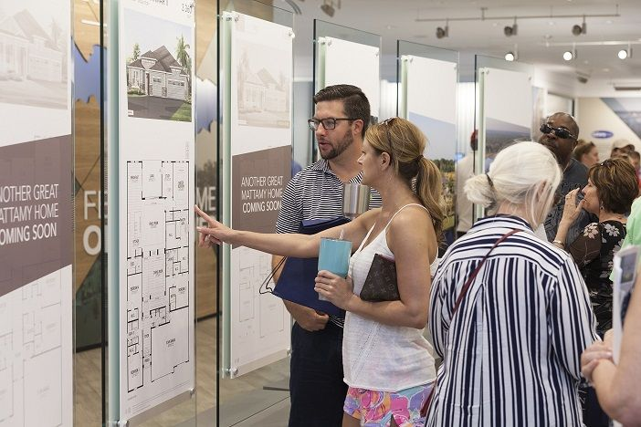 The Welcome Center showcases Mattamy Homes' new floorplans and homesites.