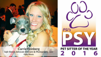 2016 Pet Sitter of the Year Carrie Feinberg