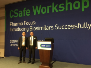 Left to right-Kevin Lee, Director of Sales Korea and Brian Kohr, President & CEO