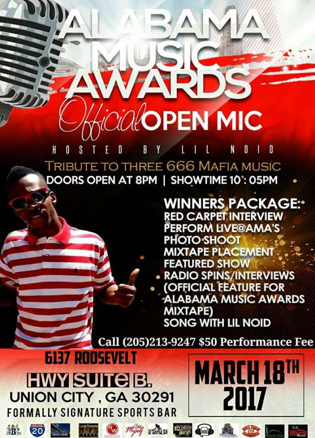 Alabama Award Show Open Mic