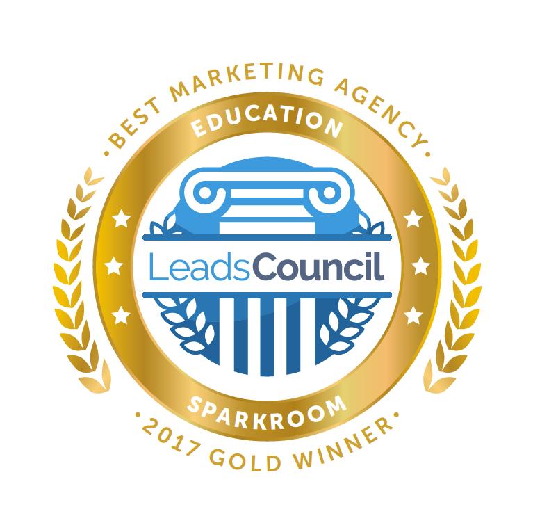 Sparkroom Gold Best Marketing Agency Education