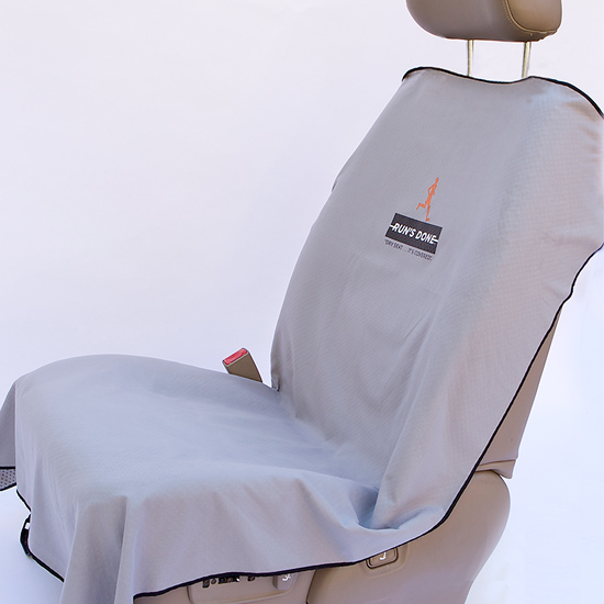 Run's Done Sports Towel Seat Cover in gray