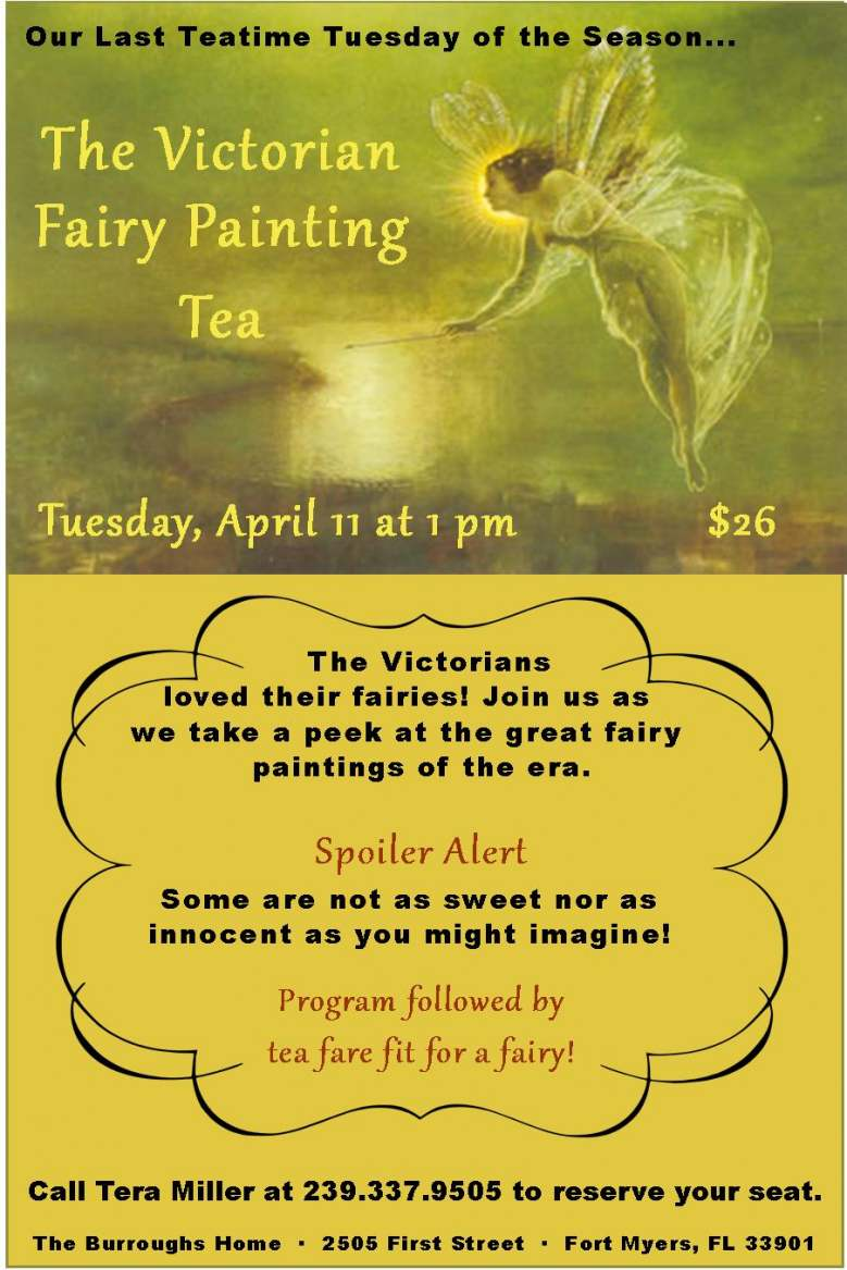 The Victorian Fairy Painting Tea - April 11, 2017