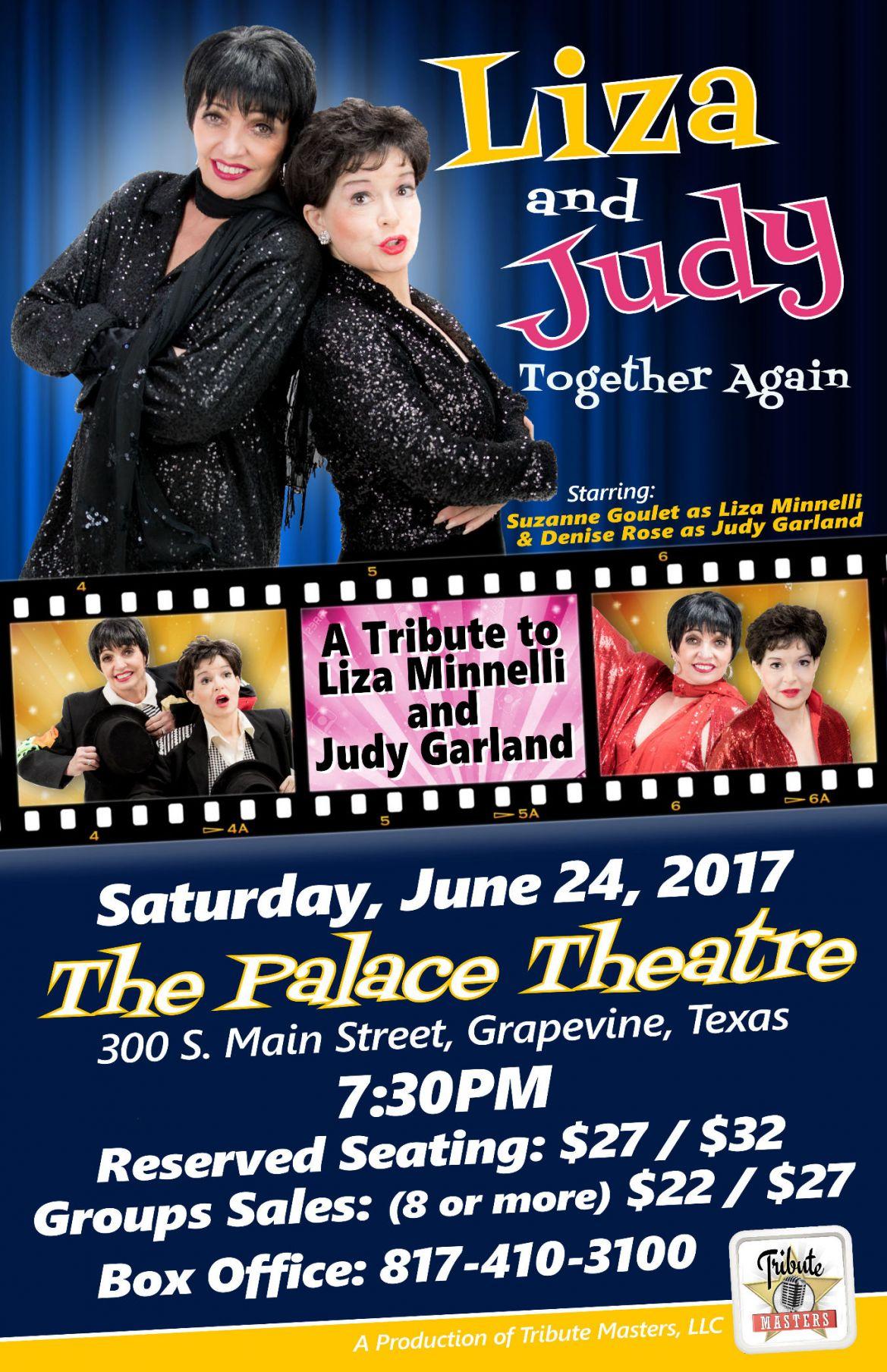 Liza & Judy Together Again | June 24th | Grapevine, TX