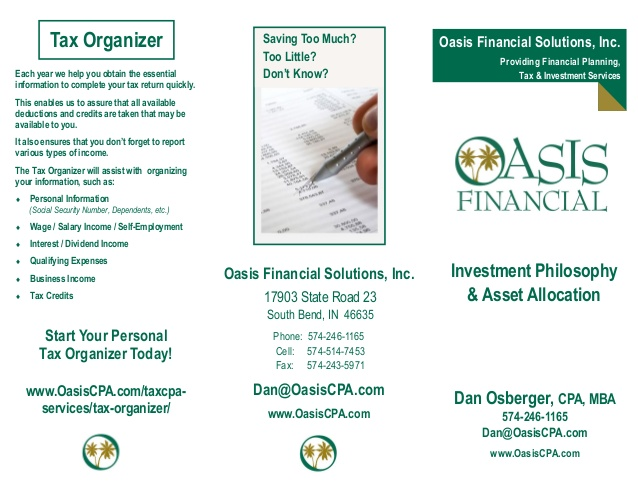 Dan Osberger, www.oasisfinancialsolutions.com