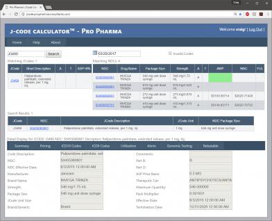 Pro Pharma's JCode Calculator 3.0