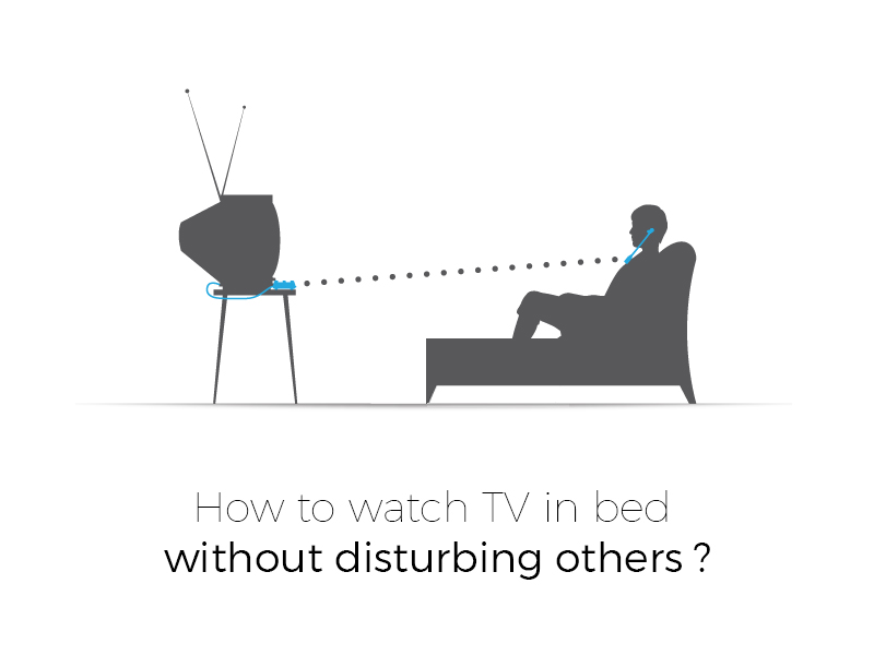how to watch tv with headphones without disturbing others