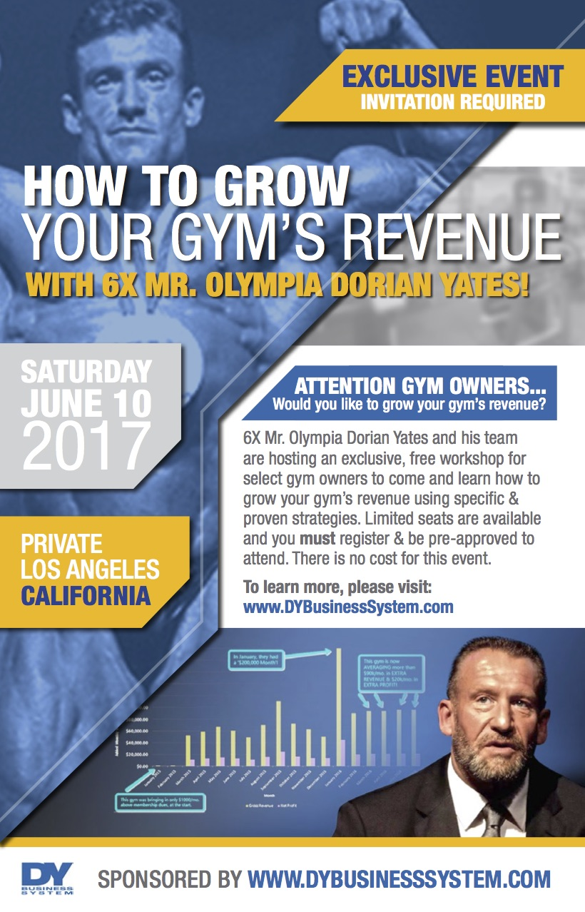 Private Workshop for Gym Owners Hosted by Dorian Yates