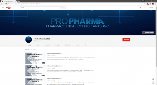 Pro Pharma Education Channel
