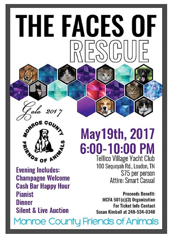 Faces of Rescue is theme of MCFA May 19th Gala