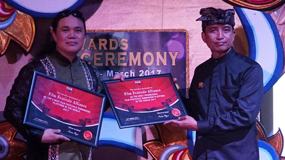 Crown Prince of Blahbatu Bali presented the Awards to Film Festivals Alliance