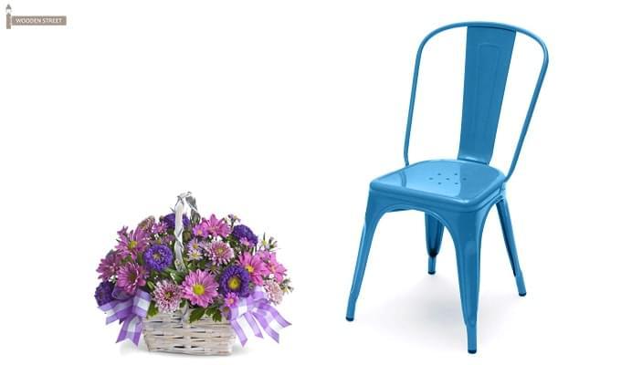 Ahora Blue Iron Chair (Blue)