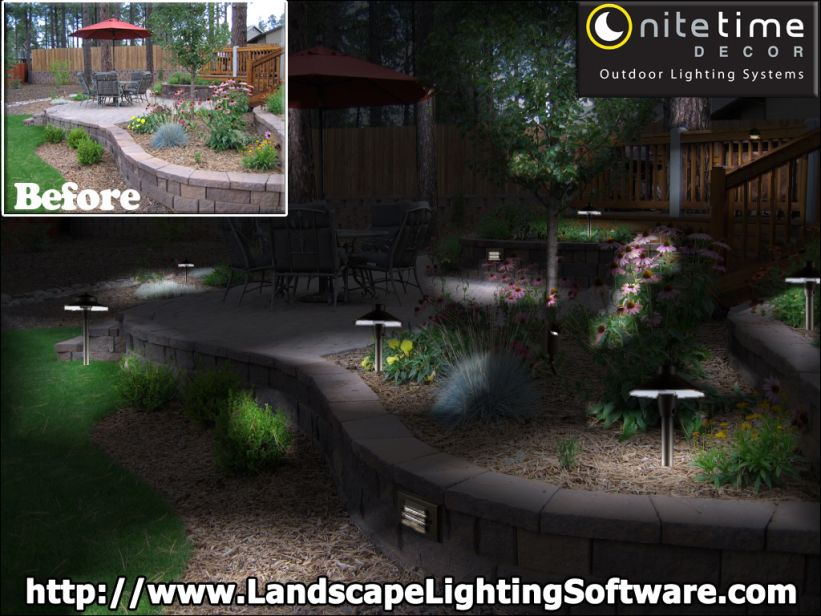 Landscape lighting software custom brands a night lighting design nite time decor outdoor lighting systems aloadofball Gallery
