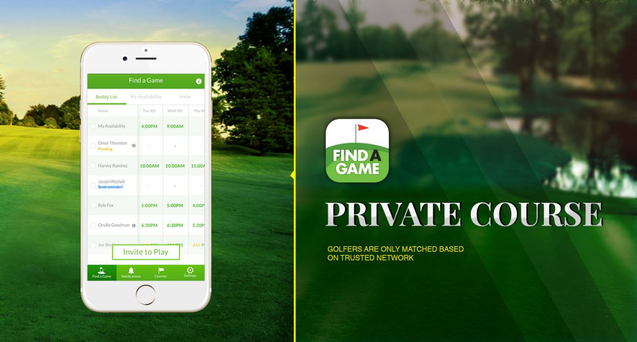 Top500Golf Mobile App is Now Find A Game